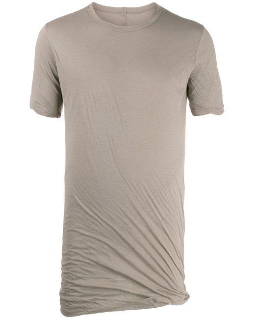 メンズ Rick Owens ドレープ Tシャツ Gray