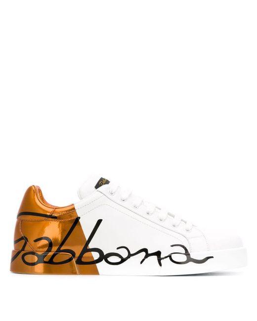メンズ Dolce & Gabbana ポルトフィーノ スニーカー Multicolor