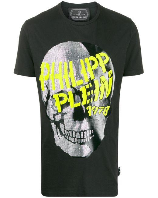 Philipp Plein T-Shirt mit Strass-Totenkopf in Black für Herren