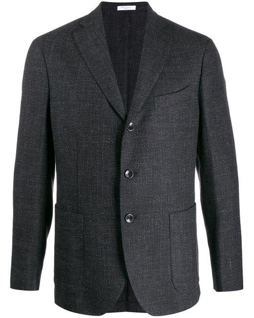 メンズ Boglioli シングルジャケット Black