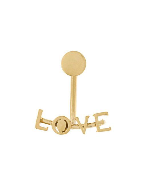 Chloé - Metallic Love Drop Back Single Earring - Lyst