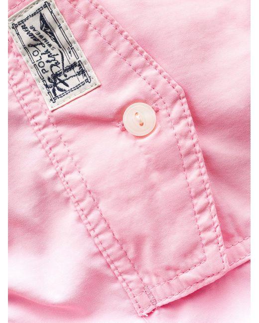 メンズ Polo Ralph Lauren Traveller トランクス水着 Pink