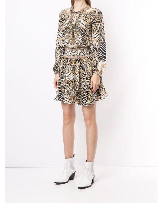 Camilla シャーリング ドレス Multicolor