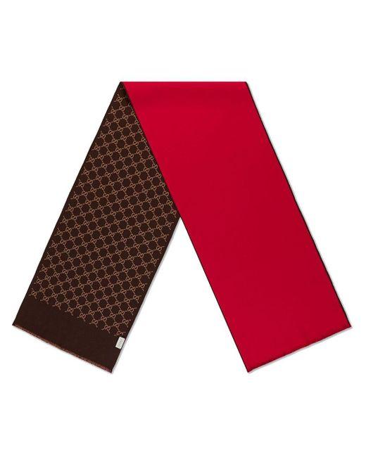 Gucci インターロックg スカーフ Red