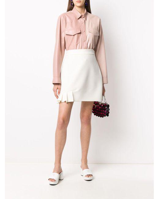 MSGM プリーツ Aラインスカート White
