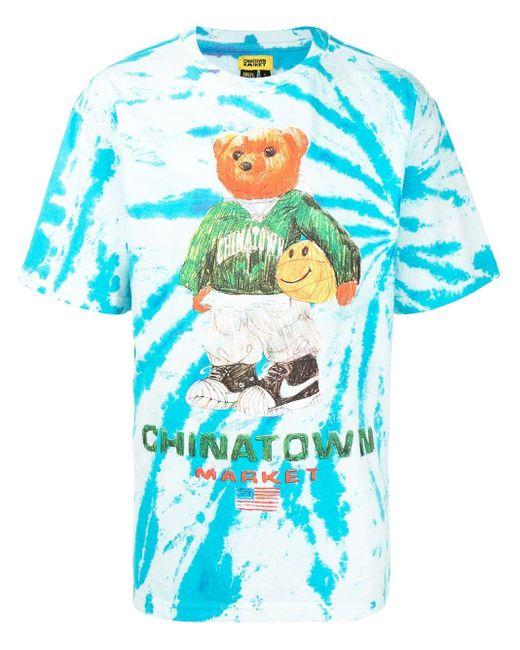 T-shirt con stampa di Chinatown Market in Blue da Uomo