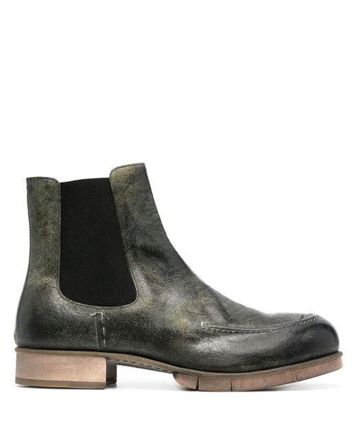 Ботинки Челси С Эффектом Потертости Maison Margiela для него, цвет: Gray