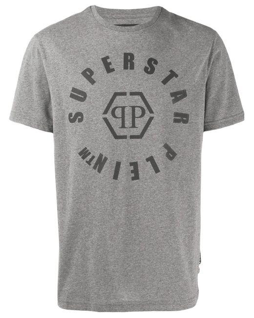 T-shirt à logo Philipp Plein pour homme en coloris Gray