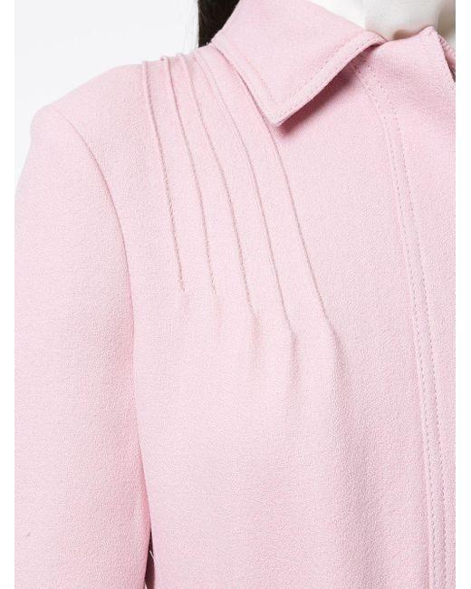 Пальто С Потайной Застежкой Спереди Giambattista Valli, цвет: Pink