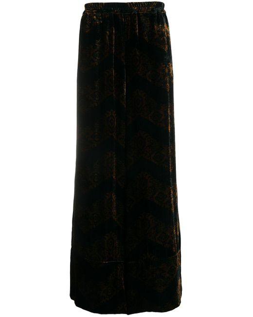 メンズ Pierre Louis Mascia Kanpur フローラル ワイドパンツ Black
