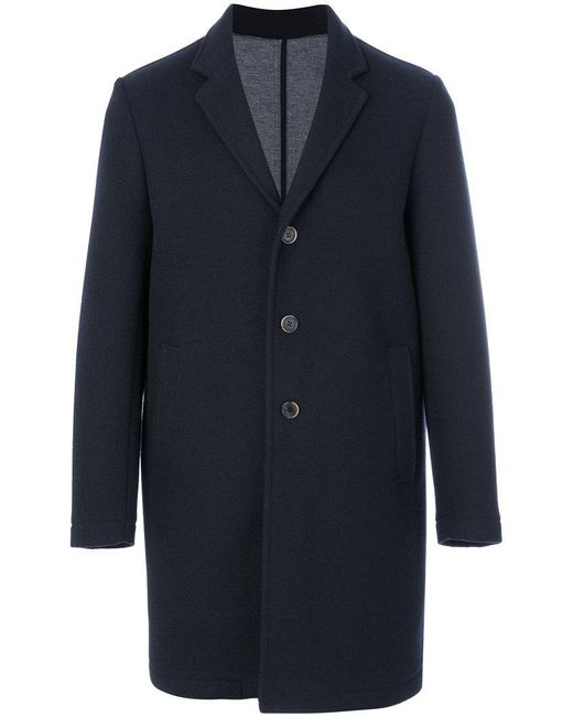 MSGM | Blue Contrast Button Coat for Men | Lyst