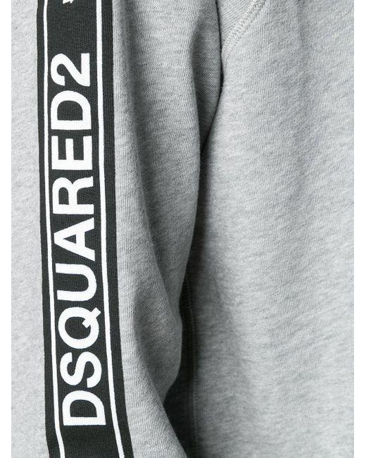 Толстовка С Боковыми Вставками DSquared² для него, цвет: Gray