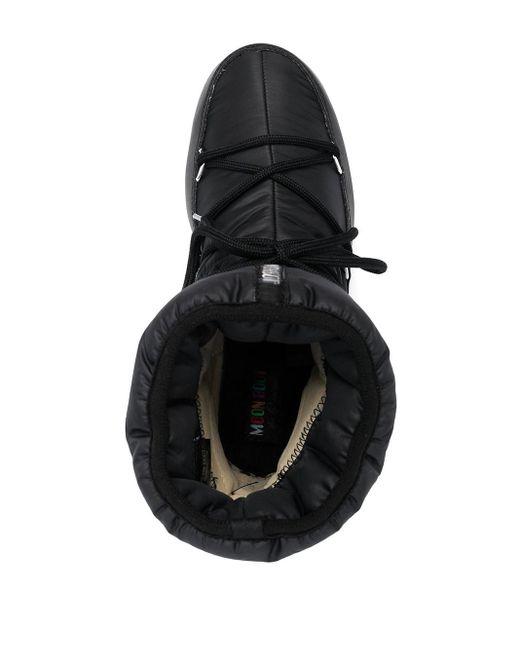 メンズ Moon Boot レースアップ アンクルブーツ Black