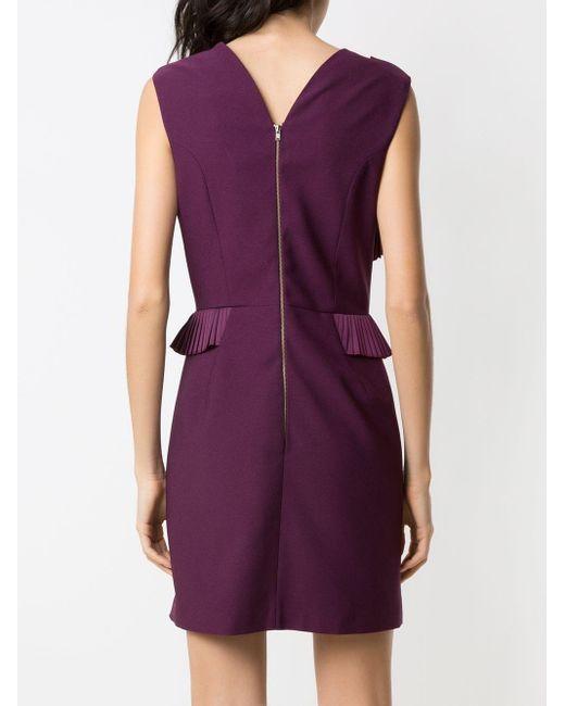 À La Garçonne プリーツ ドレス Purple