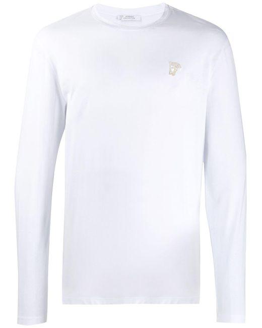 メンズ Versace ロングtシャツ White