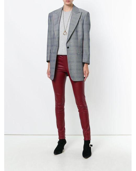 T-shirt à encolure ronde en cachemire N.Peal Cashmere en coloris Gray