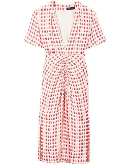 Proenza Schouler チェックドレス White