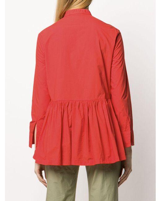 Erika Cavallini Semi Couture バンドカラー ブラウス Orange