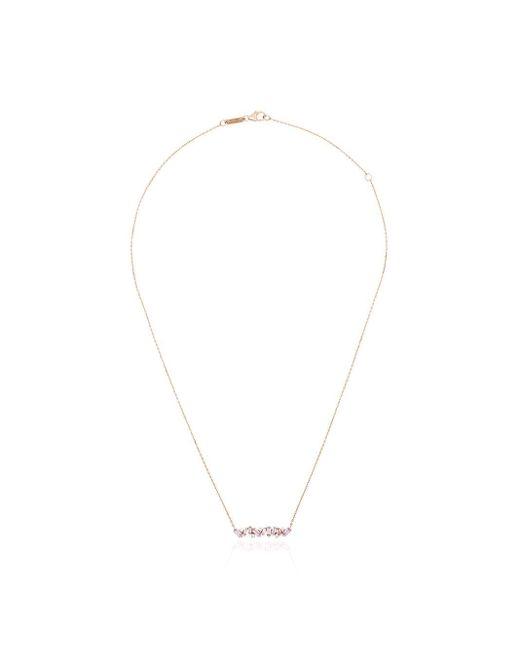 Suzanne Kalan ダイヤモンド&サファイア ネックレス 18kローズゴールド Pink