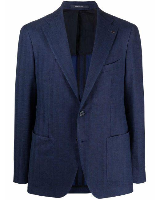 メンズ Tagliatore シングルジャケット Blue