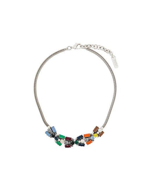 Rada' - Metallic Rhinestone Embellished Choker - Lyst