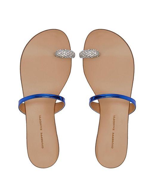 Sandalias con tira para los dedos Giuseppe Zanotti de color Blue