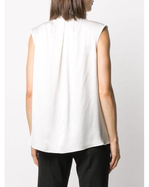 Блузка С Высоким Воротником И Складками Alexander McQueen, цвет: White