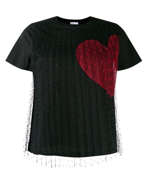 RED Valentino ハート Tシャツ Black