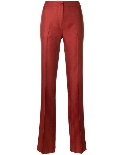 Emilio Pucci サイドストライプ テーラードパンツ Red