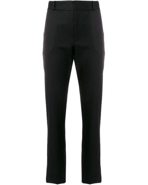 Строгие Брюки С Полосками По Бокам Saint Laurent, цвет: Black