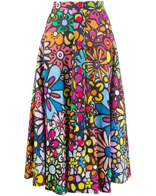 Ultrachic フローラル フレアスカート Multicolor