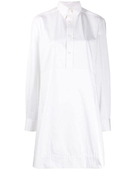 Zilver オープンバック ドレス White