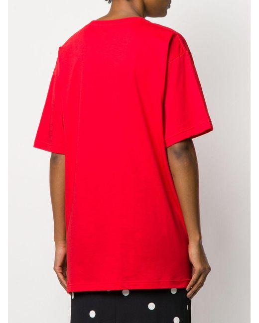Gucci ジャージーtシャツ Red