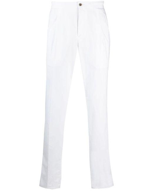 Pantalones chino slim de talle medio PT01 de hombre de color White