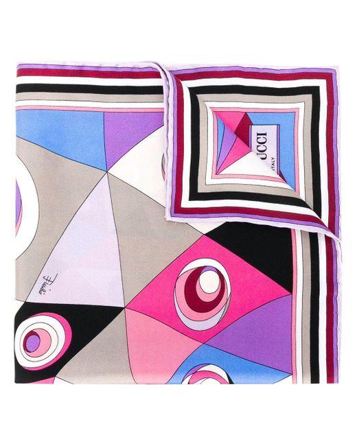 Платок С Абстрактным Принтом Emilio Pucci, цвет: Multicolor