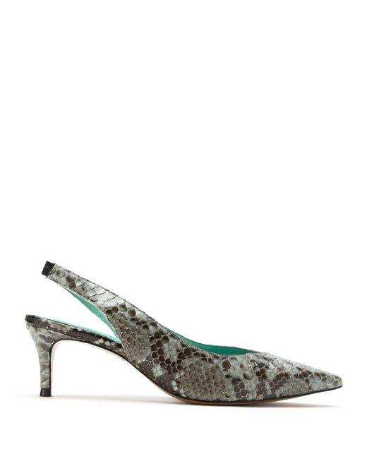 Zapatos de tacón con tira trasera con efecto de piel de pitón Blue Bird Shoes de color Gray