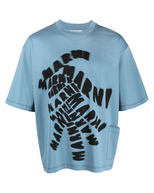 Футболка С Логотипом Marni для него, цвет: Blue