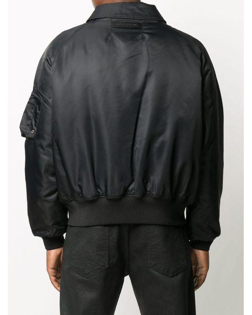 メンズ 1017 ALYX 9SM サテン ボンバージャケット Black