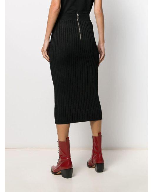 Embellished High-waist Skirt Balmain, цвет: Black
