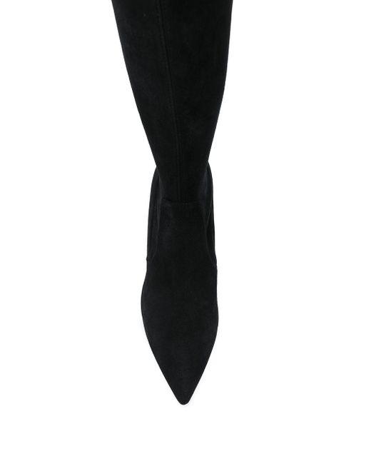 Сапоги С Заостренным Носком Stuart Weitzman, цвет: Black