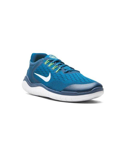 メンズ Nike Free Rn 2018 ローカット スニーカー Blue