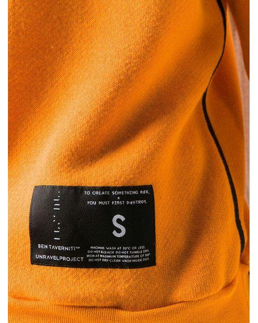 Unravel Project カットアウト パーカー Orange