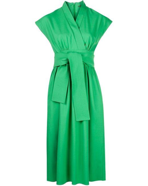 Adam Lippes ラップドレス Green