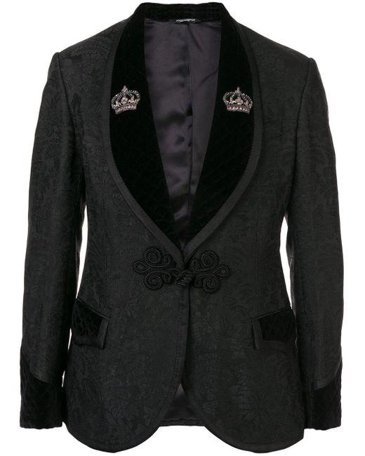メンズ Dolce & Gabbana フローラル スーツ Black