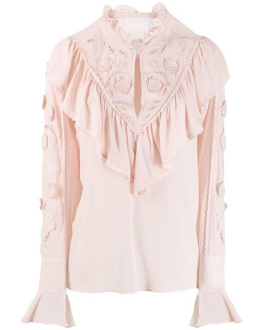 See By Chloé ラッフル ブラウス Pink