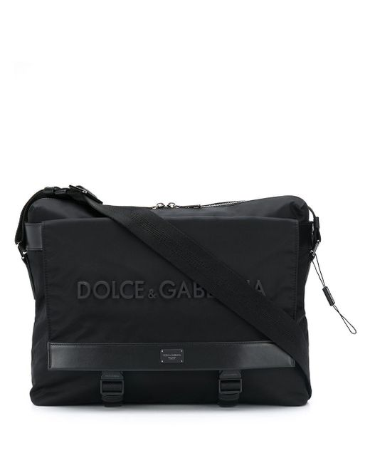 メンズ Dolce & Gabbana ロゴ ショルダーバッグ Black