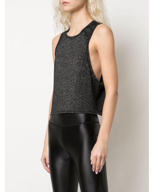 Alala Top metalizado sin mangas de mujer de color negro VLppr