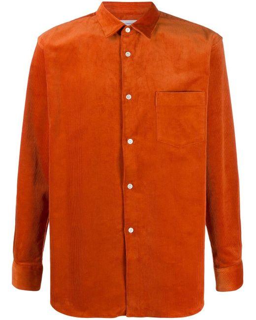 メンズ Comme des Garçons スリムフィット シャツ Orange