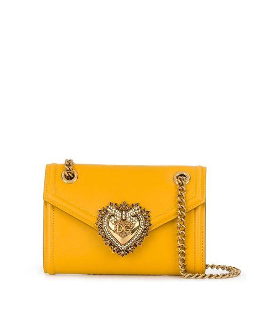 Dolce & Gabbana Devotion ショルダーバッグ ミニ Yellow