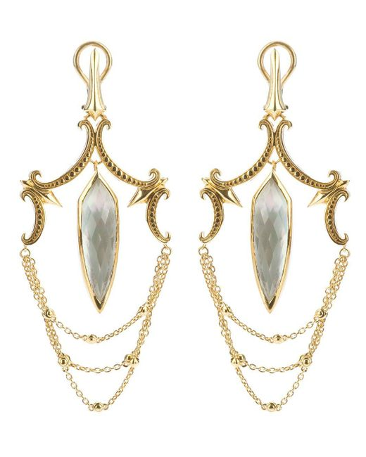 Stephen Webster Metallic Large Chandelier Earrings